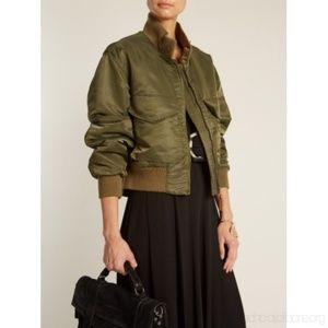 Nili Lotan McGuire Jacket in Army Green